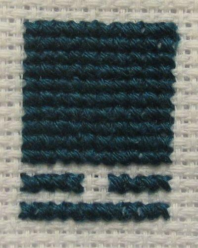 Cross-stitch - how to match number of strands to canvas density