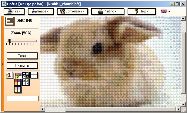Knitting Chart Software Free : Haftix cross stitch pattern design software photo to chart